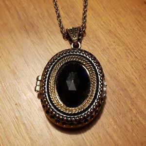 Magnetic Closure Locket on Extra Long Chain